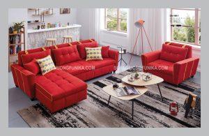 Sofa giường thông minh màu đỏ với sắc thái mạnh mẽ