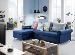 Tận hưởng cảm giác thoáng mát mà sofa giường Funika màu xanh đem lại