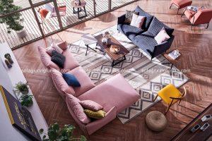 Phòng khách xinh đẹp tận dụng ánh nắng mặt trời để làm sáng bừng không gian sống
