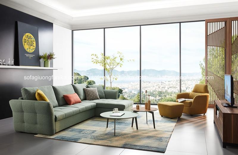Không thể thiếu những chiếc bàn trà xinh đẹp để tôn lên sự hiện đại của cả căn phòng
