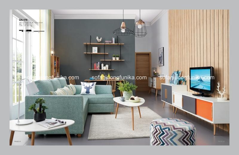Phòng khách xinh đẹp cùng sofa giường đa năng hiện đại