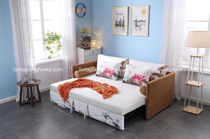 Đây là một mẫu ghế sofa giường có màu sắc độc đáo