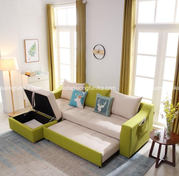 Ngăn chứa đồ rất tiện dụng của sofa giường
