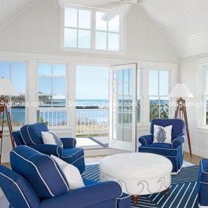 Sofa kiêm giường của phong cách ven biển sẽ mang hơi hướng và hương vị của biển