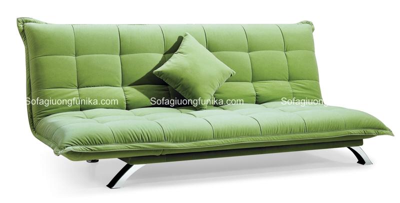 Sofa giường màu xanh cốm và không có bất cứ họa tiết nào