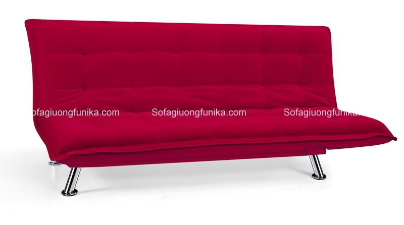 Một màu đỏ tuyền hết sức quyến rũ của sofa giường đơn sắc