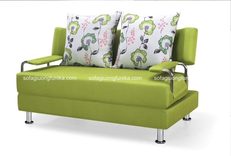 Sofa giường màu cốm có khả năng mang đến sự thư thái nhờ gam màu dịu nhẹ, tươi mát của nó